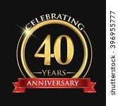 celebrating 40 years... | Shutterstock .eps vector #396955777
