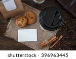 coffee cup paper and business... | Shutterstock . vector #396963445