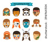 Face Painting Icons. Kids Face...