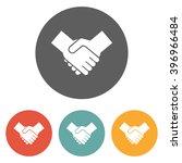 handshake icon | Shutterstock .eps vector #396966484