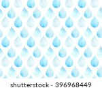 blue drops watercolor seamless... | Shutterstock . vector #396968449