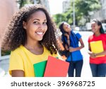 laughing caribbean student in... | Shutterstock . vector #396968725