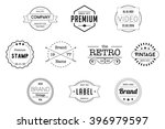 vintage badges black vector... | Shutterstock .eps vector #396979597
