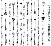 hand drawn pattern of arrows  | Shutterstock .eps vector #396981127