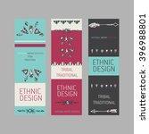 collection of  tribal boho folk ... | Shutterstock .eps vector #396988801