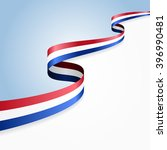 dutch flag wavy abstract... | Shutterstock .eps vector #396990481