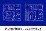 blueprints floor plans of a... | Shutterstock .eps vector #396994525