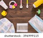 japanese diapers  wet wipes ... | Shutterstock . vector #396999115