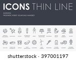 thin stroke line icons of... | Shutterstock .eps vector #397001197