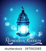 light blue ramadan kareem... | Shutterstock .eps vector #397002085