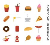fast food icon | Shutterstock .eps vector #397005649