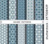 arabic vector pattern pattern... | Shutterstock .eps vector #397008439
