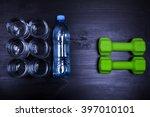 drink water concept. 2 litres... | Shutterstock . vector #397010101