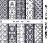 arabic vector pattern pattern... | Shutterstock .eps vector #397010635