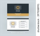 golden and black business card...