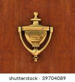 Classic Brass Door Knocker On ...