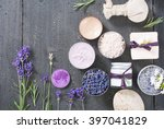 beauty product samples with...   Shutterstock . vector #397041829