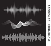equalizer sound waves icon... | Shutterstock .eps vector #397050391