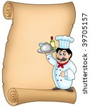 scroll with chef 1   color... | Shutterstock . vector #39705157
