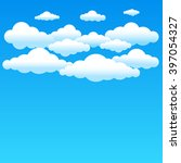 cartoon cloudy background on... | Shutterstock . vector #397054327