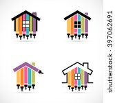 set of house renovation icons.... | Shutterstock .eps vector #397062691
