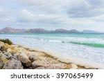 Big Rocks On A Seashore. Wavy...