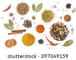 colorful spices and herbs for... | Shutterstock . vector #397069159