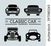 set classic car front view icon ... | Shutterstock .eps vector #397080265