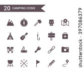 camping icon set vector.... | Shutterstock .eps vector #397086379
