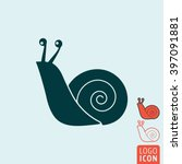snail icon. vector illustration