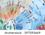 background with euro money....   Shutterstock . vector #397093669