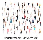 corporate teamwork clerks... | Shutterstock . vector #397095901