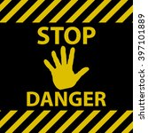 stop danger sign | Shutterstock .eps vector #397101889