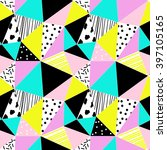 geometric seamless pattern with ... | Shutterstock .eps vector #397105165