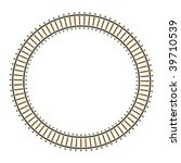 Infinity raster circle train railway track - stock photo