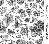 seamless pattern with different ... | Shutterstock . vector #397107949