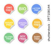vector food dietary labels icon ... | Shutterstock .eps vector #397108144