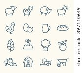 farming line icons | Shutterstock .eps vector #397110649