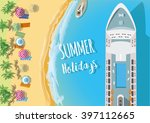 holiday background. top view of ... | Shutterstock .eps vector #397112665