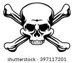 a skull and crossbones icon... | Shutterstock .eps vector #397117201