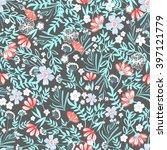 vintage vector seamless pattern ... | Shutterstock .eps vector #397121779