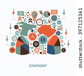 confront concept design on... | Shutterstock .eps vector #397125361