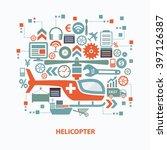helicopter concept design on... | Shutterstock .eps vector #397126387