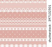 lace white seamless pattern.... | Shutterstock .eps vector #397132501
