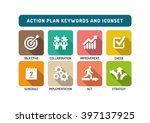 action plan flat icon set | Shutterstock .eps vector #397137925