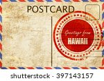 vintage postcard greetings from ... | Shutterstock . vector #397143157