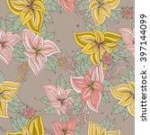 seamless floral pattern | Shutterstock .eps vector #397144099