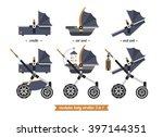 baby stroller transformer.... | Shutterstock .eps vector #397144351