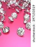 Luxury Diamonds On Pink...