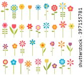 set of flowers | Shutterstock .eps vector #397155781